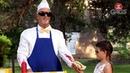 Blind Waiter Serving Food