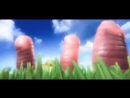 Прикольный короткий анимационный мультик про червяков