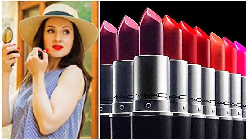 ТОП 10: Моя коллекция помад MAC | MAC Lipstick Collection СВОТЧИ.