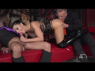 Aletta ocean - black leather double pleasure