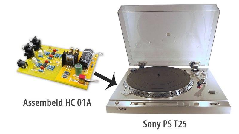 Установка фонокорректора Assembeld HC 01A в проигрыватель Sony PS T25ТЕСТ