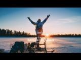 Леса и озера Карелии на снегоходе видео/дрон [ELK.ONE]