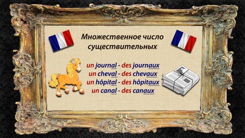 Французский язык. Урок 9. Множественное число существительных