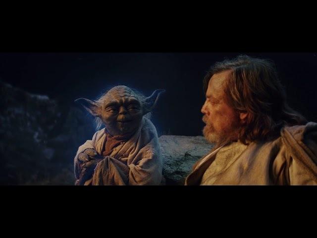 Yoda Teaches Luke An Important Lesson in The Last Jedi High Quality Scene