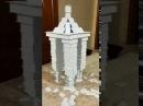 Скульптура из карт Буровая установка