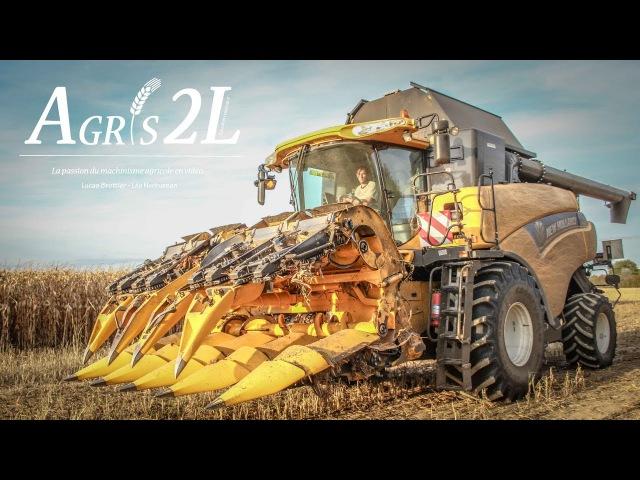 MOISSON MAÏS 2017   CORN HARVEST   Mise en boudin   CR 9080   Fendt 722   John deere 6190R   Coutand