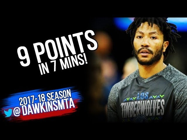 Derrick Rose Full Highlights 2018.3.20 Twolves vs Clippers - 9 Pts in 7 Mins!