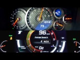 Nissan GT-R vs Honda (Acura) NSX 2017 0-200km/h acceleration