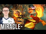 Miracle- Phoenix Bird GOD Radiance Build +1400 Icarus Dive Cast Range - Dota 2