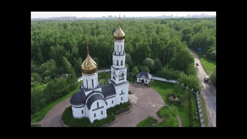 2016 Москва Полет над церквями в Алтуфьево и Вешках. Квадрокоптер Phantom 3 Moscow church