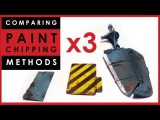 Comparing 3 x paint chipping methods for scale models hairspray vs Vallejo vs AK Interactive