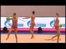 Gruppe Russland Sieger 3 Bälle 2 Bänder GAZPROM Gymnastik Weltcup 2014