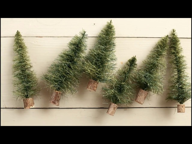 How to Make Sisal Bottle Brush Trees - from Scratch! DIY Craft Tutorial