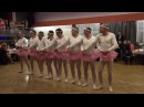Fun dance from fathers in womens day - four little swans