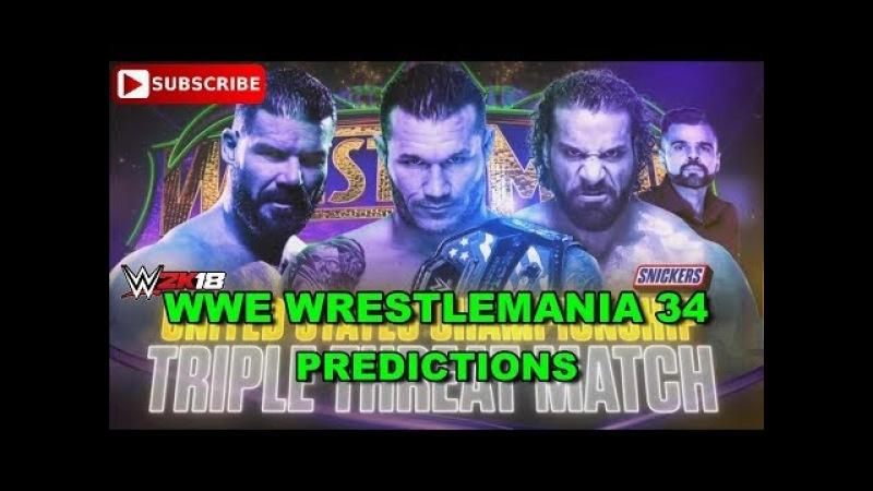 WWE Wrestlemania 34 United States Championship Randy Orton vs Bobby Roode vs Jinder Mahal WWE2K18