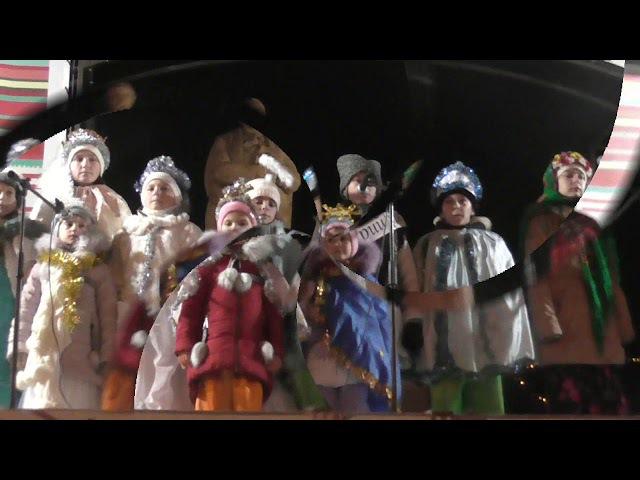 Переріслянські мандрівники на відкритті Ялинки в Надвірній