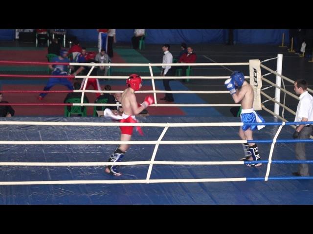 Канцарин Михаил(синий угол) - Кикбоксинг К-1 финал ПФО 19-22.02.2018