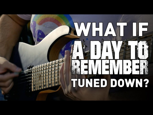 What If A Day To Remember Tuned Down? - 8 String Guitar Riff Compilation | Andrew Baena