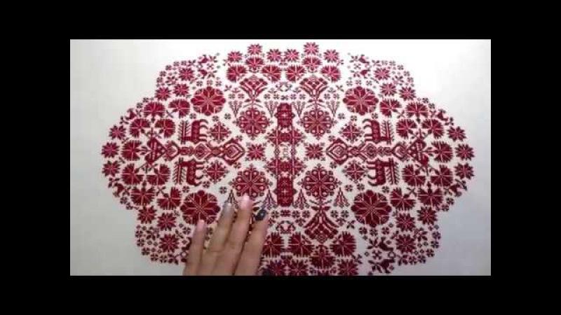 Вышивка крестиком оформленный сэмплер