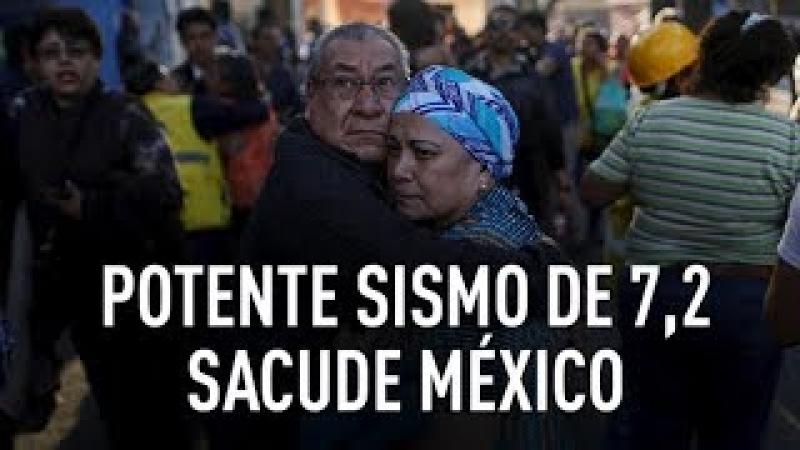 PRIMERAS IMÁGENES Potente sismo de 7,2 sacude el centro y sur de México