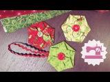 Елочная игрушка из ткани Цветок из ткани без швейной машины