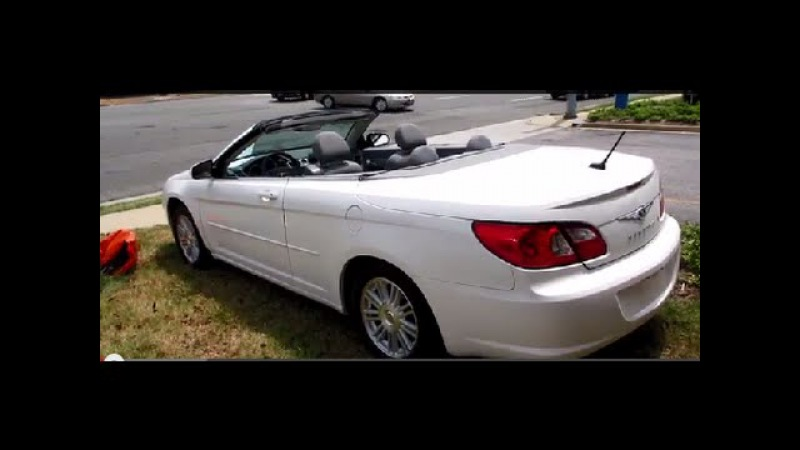 2008 Chrysler Sebring Touring Convertible Walkaround, Start up, Tour and Overview