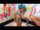 Развлечение в ванной для детей с Баффи.