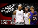 LeBron James & Dwyane Wade vs Kobe Bryant LEGENDS Battle 2013.02.10 - 90 Pts Combined!