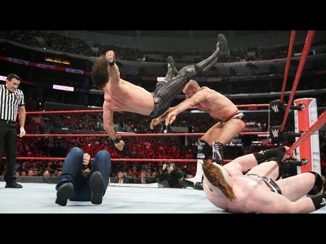 Dean Ambrose Seth Rollins vs Sheamus Cesaro - No Mercy 2017 Highlights