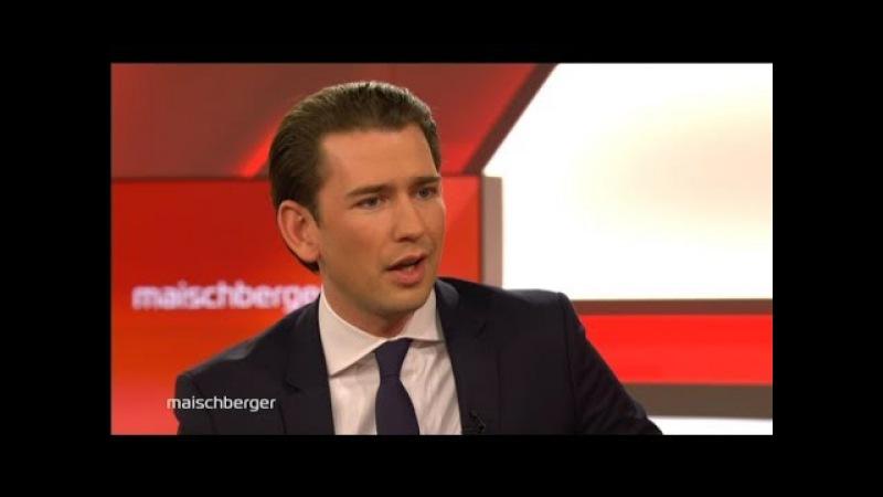 Kanzler Kurz: Wunderknabe oder politischer Scharfmacher? mit Sebastian Kurz | Maischberger 17.01.18