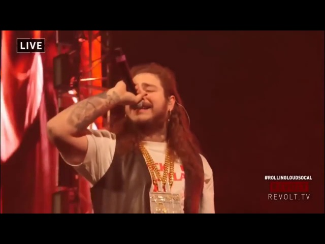 Post Malone - Lil Peep Tribute At Rolling Loud (Too Young Live)