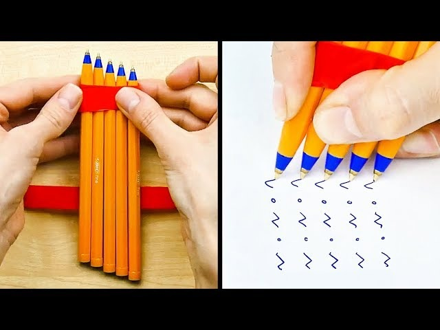 20 SMART LIFE HACKS WITH PENS AND PENCILS