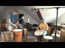 A GIANT Djembe (16.5) Played in Djembe/DjunDjun (Dunun) Duo on Mali Rhythm Tani
