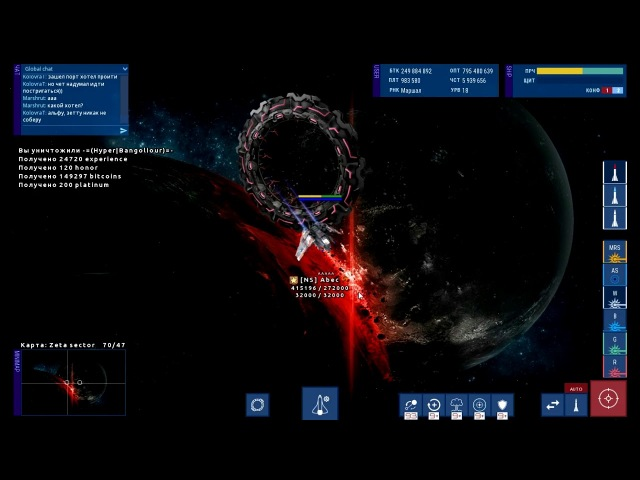 New private server WarUniverse v0.7.3 Star Missions - zone Zeta