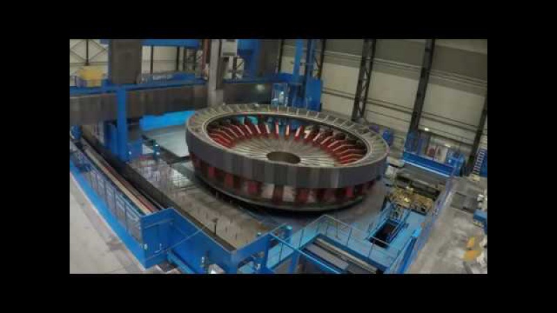Производство огромных шестерен диаметр 17,5 метра