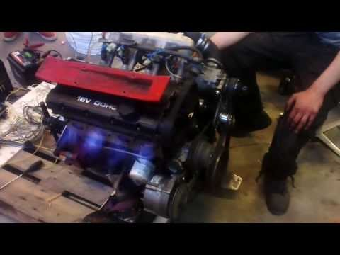 Volvo B234F Trionic 5.5 and eaton m65 supercharged test start.