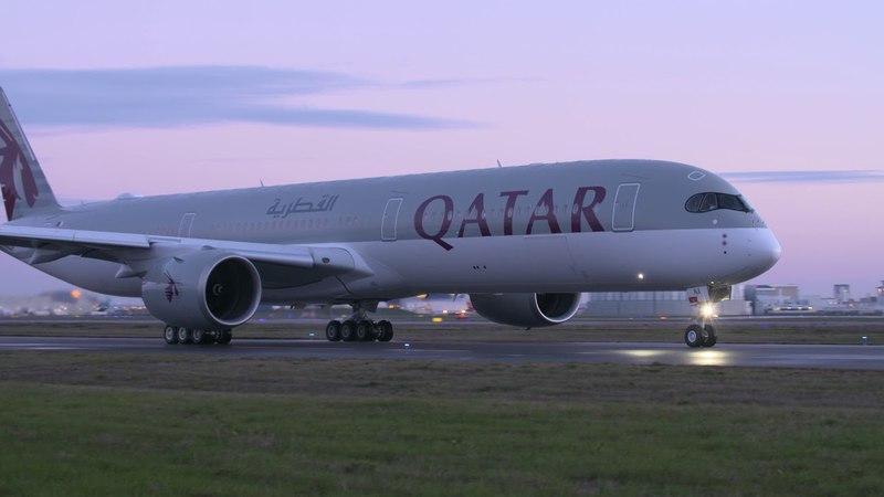 Primer Airbus A350 1000 Qatar Airways take off despegue