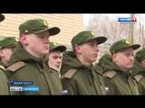 Первая группа призывников отправилась сегодня из Архангельска