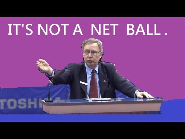 [TT Case Study] Wang Hao insisted (It's a Net ball), Umpire finally corroberated