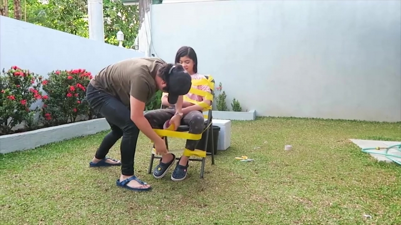 DUCT TAPE ESCAPE CHALLENGE (Pranked Brother) / Ranz and niana