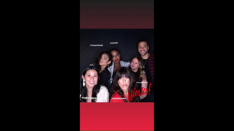 Shay Mitchell on Aaron Hines's Instagram Story (6 мая 2018)