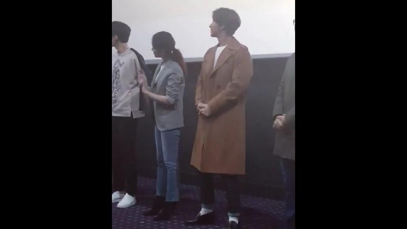 [17.03.2018] Хэ Чжин на продвижении фильма «Сыр в мышеловке»