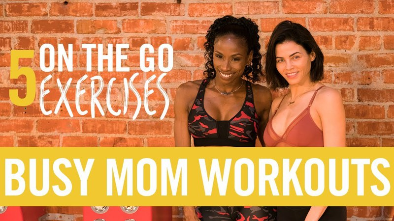 My 5 On The Go Exercises!   Busy Mom Workouts   Jenna Dewan Tatum