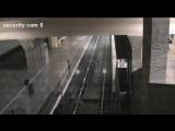 Метро Полежаевская поезд призрак, в Москве засняли поезд призрак, реальное видео по новостям показывали [360]