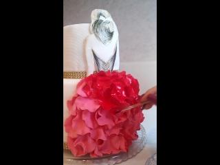 Немного видео)# пока я занята, муж время даром не теряет)# художественные торты# люблю свою работу#