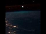 Яркий болид заснятый с борта Международной космической станции