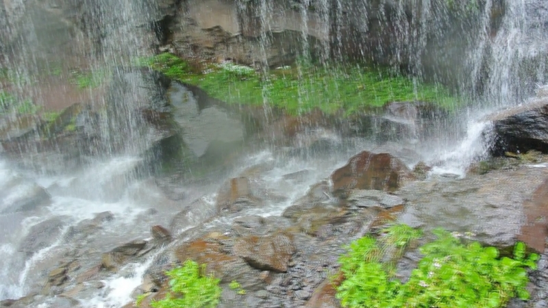 У водопада Девичьи косы