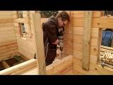 Один день из жизни стройки или как я установил одно из бревен моего строящегося дома