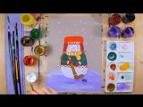 Как нарисовать снеговика - урок рисования для детей от 5 лет, поэтапно, хоккей (1)