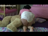 Lexi_Cuddling_Bear_in_Messy_Diaper